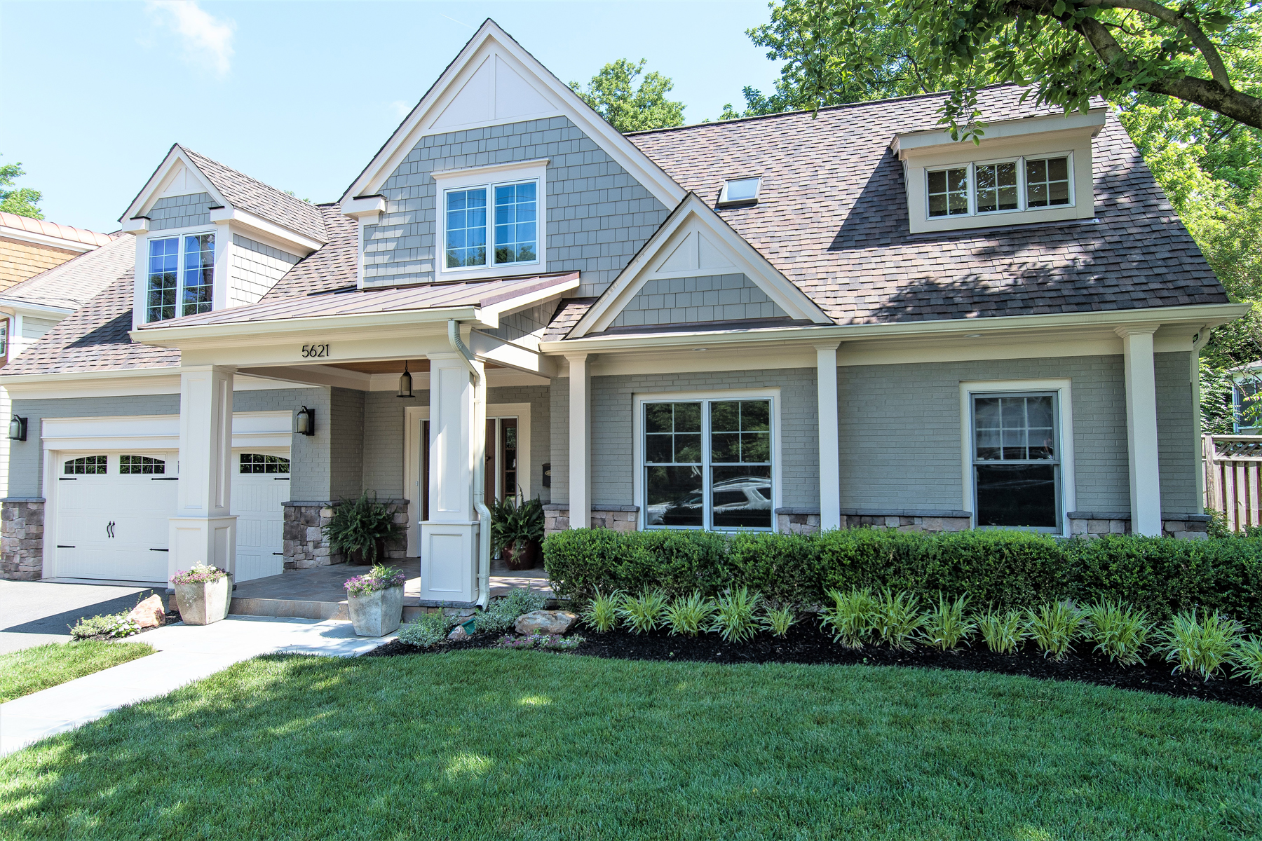 Full Home Remodeling with grey house in Montgomery County, MD